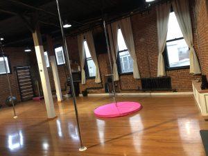 pole studio dance floor area | Soul Pole Dance