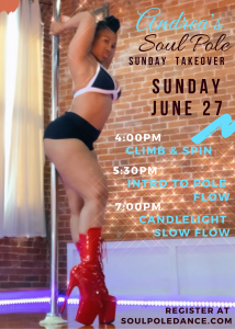 Andrea's Sunday Takeover at Soul Pole